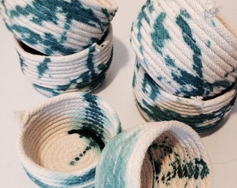 teal rope bowls