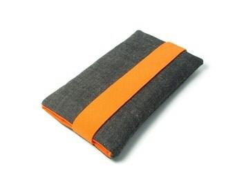Fairphone 2 Case, Fairphone 1 Sleeve - Orange, Gray, Fabric, Cotton