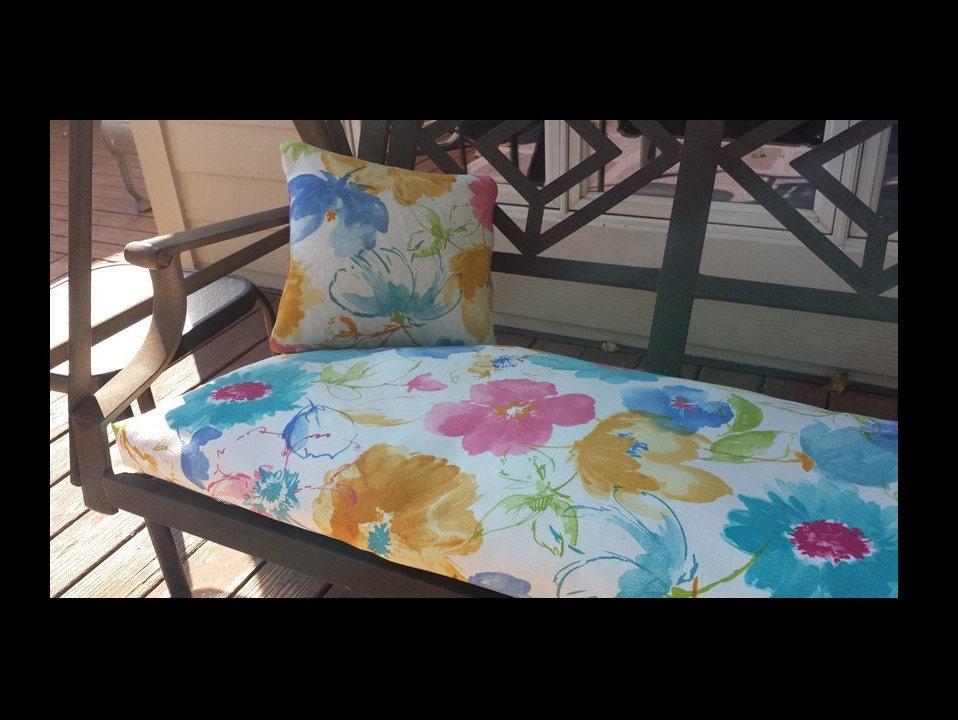 Custom swing bench window seat cushion covers indoor or - Window seat cushions indoor ...