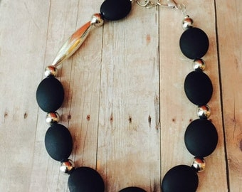 Chuncky black necklace