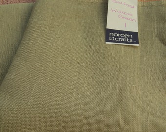 Willow Green Belfast Linen (32 ct.) from Norden Crafts