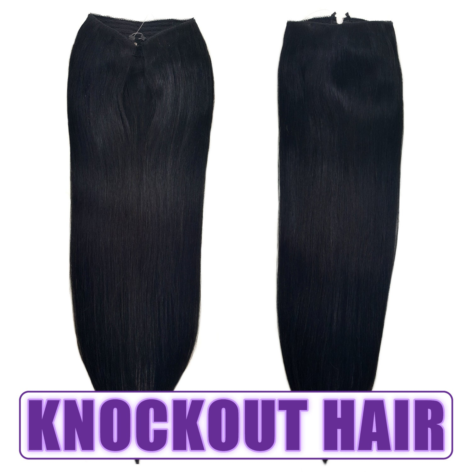 Fits like a halo hair extensions 20 jet black 1 human no clip fits like a halo hair extensions 20 jet black 1 human no clip in flip in couture by knockout hair pmusecretfo Choice Image
