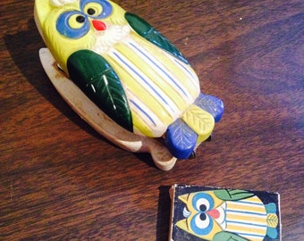 Vintage owl stapler/ Novelty stapler