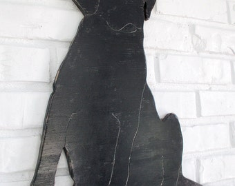 Black Lab Rustic Wooden Home Decor Black Labrador Sign Dog Wall Art #5008