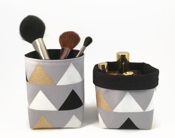 Makeup organiser, Bathroom storage, Pencil holder, Makeup brush holder, Makeup storage, Pen holder for desk, Storage bin, Storage basket
