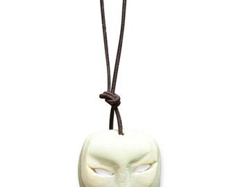 wood Peking opera mask pendant