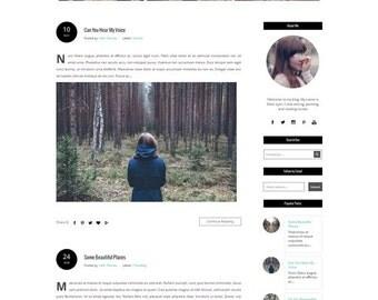 Responsive Premade Blogger Template  - Blogspot template - fashion lifestyle blogger