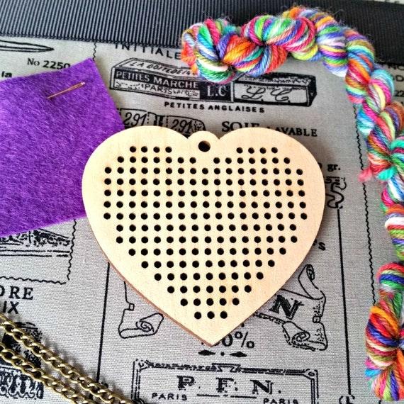 Stitchable Necklace Kit, adult craft kit, embroidery set, DIY, make ...
