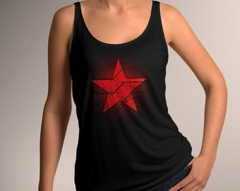 Captain America Inspired Winter Soldier Star Women's Tank Top