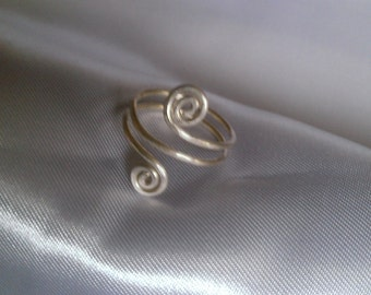 sterling silver ring , handmade jewelry