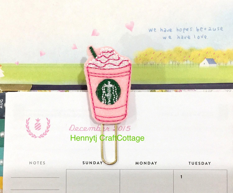 Schreibtischzubehör Alt : Planer clip rosa filz kaffeetasse b?roklammer seite