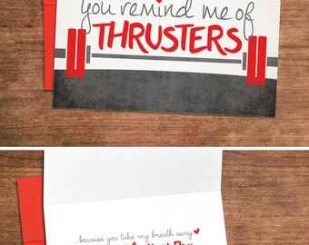Crossfit Love Valentines Card - Love Greeting Card for Husband, Wife, Anniversary, Engagement, Boyfriend, Girlfriend, Gym
