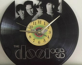 """The Doors vinyl record wall art - upcycled from an original 12"""" vinyl record"""