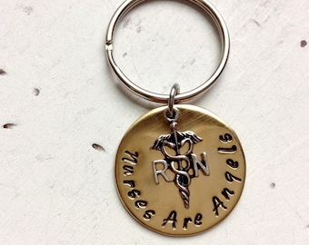 Registered Nurse Keychain/RN Gift /Nurses Are Angels/ Medical Gift / Graduation/ Class of 2016 2017