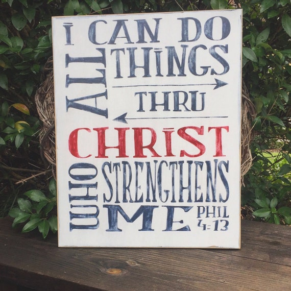 Bible verse strength philippians 413 playroom classroom for What kind of paint to use on kitchen cabinets for christian wall art with scripture