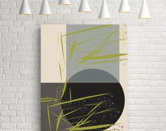 Abstract art prints, textured art print, abstract art poster, geometric shapes, modern art large wall, geometric art print, room art decor
