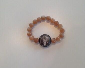 Sunstone CZ Stretch Bracelet