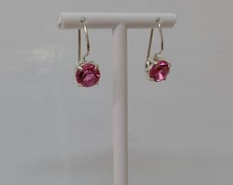 Earrings Crystal pink Silver 925 SO120