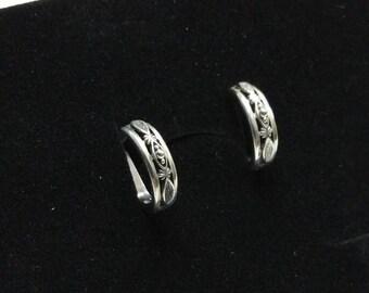 Kitchen hoops earrings 925 Silver vintage SO188