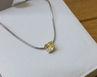 925 Silver snake chain Crystal stones SK895
