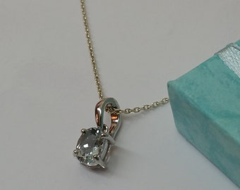 Pendant 925 Silver Crystal stone vintage SK674