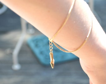 Adjustable Gold Arrow Bracelet