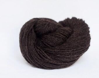 Organic wool - Schafwolle #03 - natural dark brown - single farm yarn - knitting yarn - crochet yarn