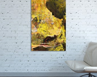 CANVAS PRINT Africa African painting African Vertical Africa Painter artist Africa abstract Africa collage Africa photo Africa wall art work