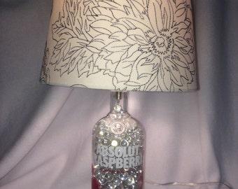 Absolut Raspberri Vodka Lamp