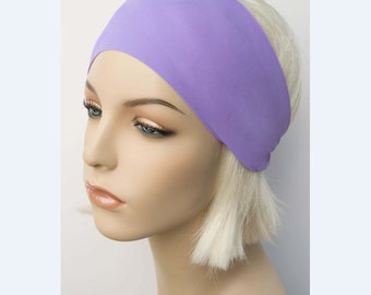 Lavender Purple Workout Fitness Headband, Yoga Headband, Matte Solid Color, Yoga Clothing, Cycling, Running, Dance, Non Slip