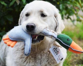 Fleece Dog Toy - Plush Duck - Duck  - Soft Toy Duck - Plushie  - Duck Softie - Handmade Dog Gift