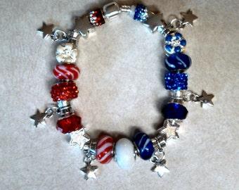 Americana Red, White & Blue Bracelet
