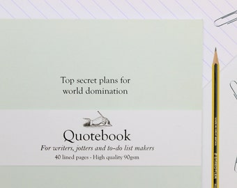 Top Secret Plans For World Domination Quote Notebook | Cute writer's notebook lined A5 | Quotebook |