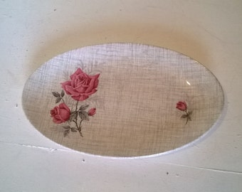 J G Meakin SOL Small hors d'oeuvre oval serving plate, mid century
