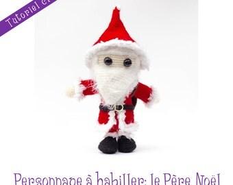 Patron crochet: poupée Père Noël et ses accessoires