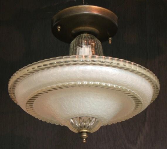 Vintage Lighting 1930s 1940s Single Bulb Centre Post Ceiling