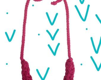Fuchsia and Eggplant I-Cord Necklace