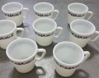 Corelle Old Town Blue pyrex mugs, set of 8