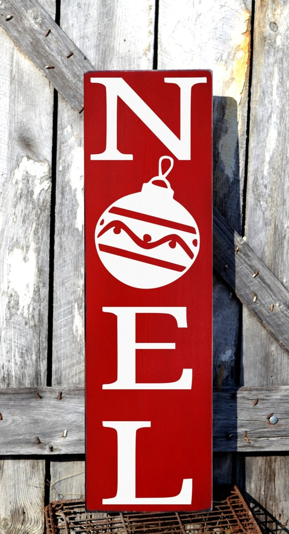 Outdoor christmas decorations signs large hand by for Large outdoor christmas signs