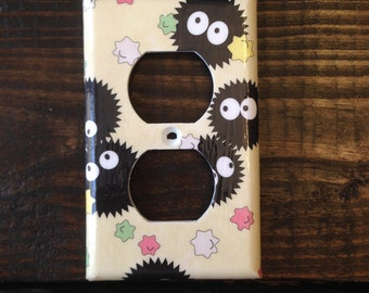 Soot Sprites Light Switch And Other Style Covers   Spirited Away - Star Candies - Studio Ghibli - Anime Decor - Disney Decor - Nursery - Art