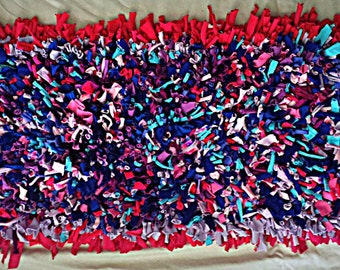 Crocheted Purple-Pink Rug