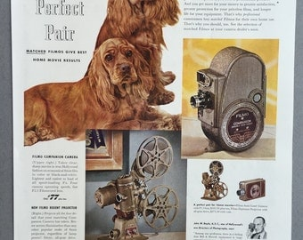 1949 Bell & Howell Camera and Projector Print Ad - Filmo - John W. Boyle