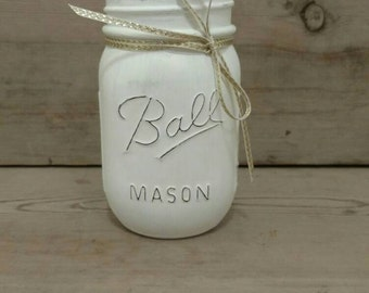 Mason Jar Pen Holder, Mason Jar Desk Organizer, Mason Jar Desk Decor, Desk Accessories for Women, Coworkers Gift, Mason Jar Office Decor