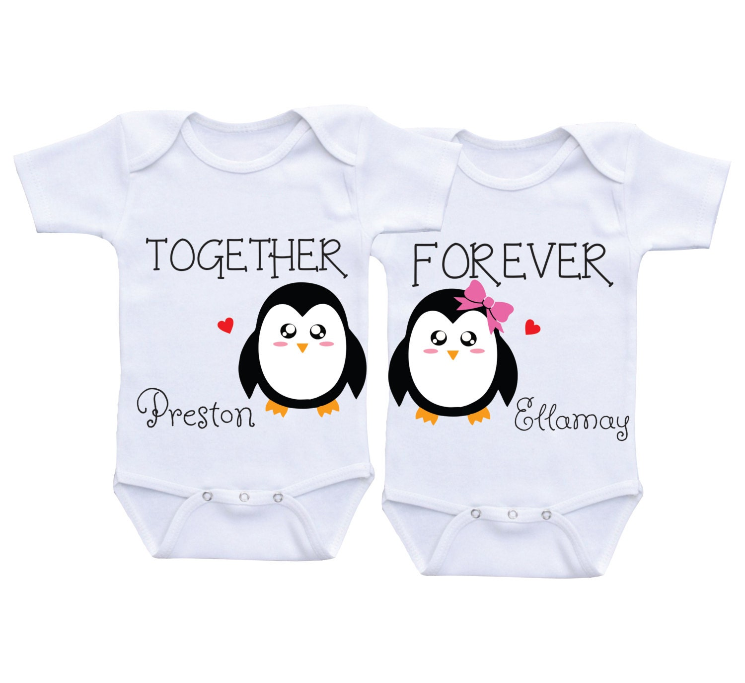 Twin baby shower Twin boy girl matching clothes Baby twins