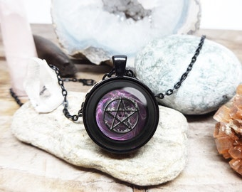 pentacle necklace wicca protection amulet Pentagram necklace pentagram pendant wicca necklace pagan necklace wiccan jewelry gift for man