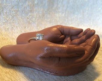 Offering Hands unique shade, ring holder, gift holder
