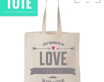 In Love Tote - Market Bag - Gift - Love