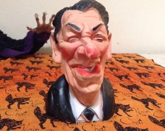 Ronald Reagan genuine Latex Spitting Image Bust/1984.
