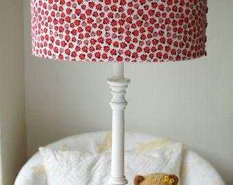 Riley Blake Ladybug Dance handmade lampshade.