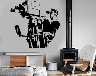 Wall Vinyl Decal Movie Cinema Director Producer Camera Cool Amazing Decor 1355dz